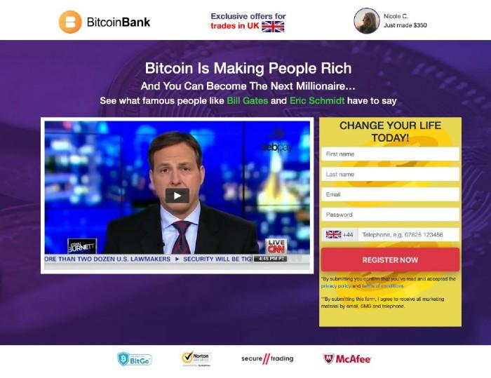 Bitcoin Bank App